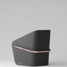 LINEA realizzato da Materie Unite, poltrona ideale per fiere e salotti.    hello@materieunite.it www.materieunite.it